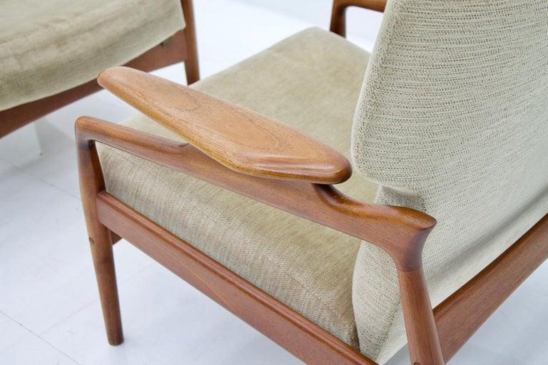 Pair of Reclining Lounge Chairs by John Bone, Denmark, 1960s 4