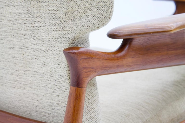Pair of Reclining Lounge Chairs by John Bone, Denmark, 1960s 5