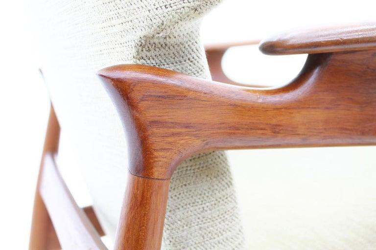 Fabric Pair of Reclining Lounge Chairs by John Bone, Denmark, 1960s