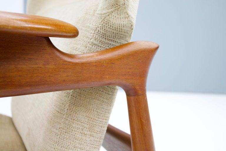 Pair of Reclining Lounge Chairs by John Bone, Denmark, 1960s 1