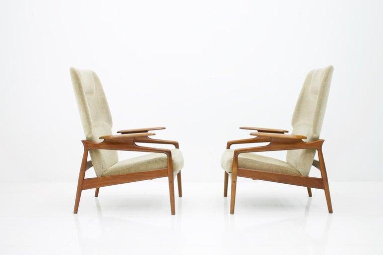 Pair of Reclining Lounge Chairs by John Bone, Denmark, 1960s 2