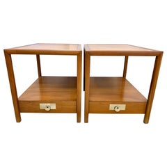 Pair of Rectangular Lamp Tables by Michael Taylor for Baker Furniture New World