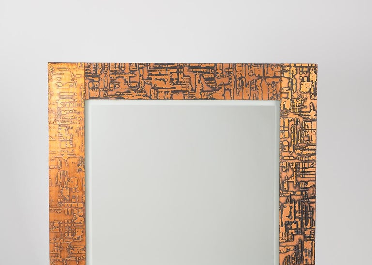 French Pair of Rectangular Modernist Mirrors, France, circa 1970s For Sale