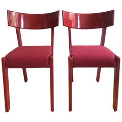 Pair of Red Chairs by Ralf Lindberg for Garsnas