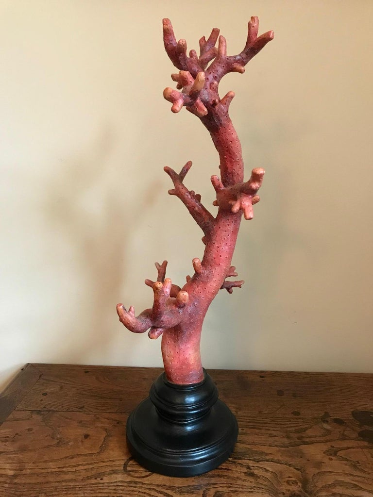 French Pair of Red Coral Decorations, Large-Scale For Sale