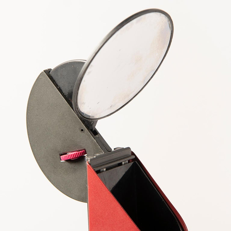 Metal Pair of Red Gibigiana Lamps by Achille Castiglioni for Flos For Sale