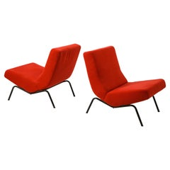 Pair of Red Pierre Paulin CM 195 Chairs, Netherlands 1960's