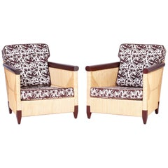 Pair of Reed Wrapped Lounge Chairs