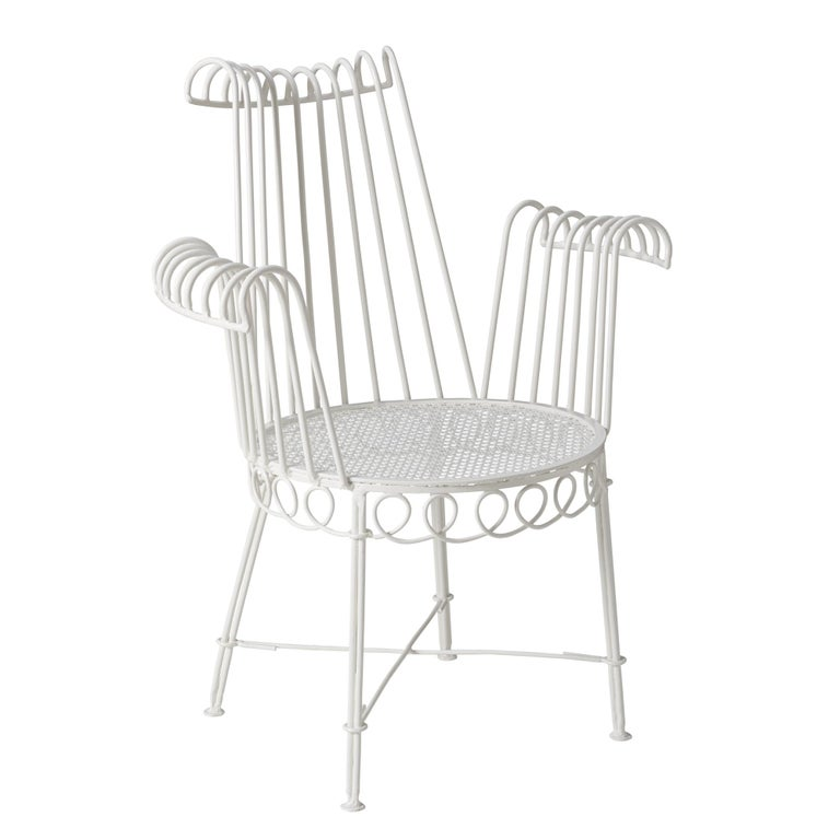 These French white garden chairs are a great addition to any outdoor space!  Since Schumacher was founded in 1889, our family-owned company has been synonymous with style, taste, and innovation. A passion for luxury and an unwavering commitment to