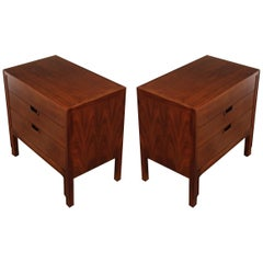Pair of Refinished Nightstands or End Tables by John Stuart for Janus Collection