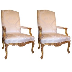 Pair of Regence Style Armchairs, French, Late 19th Century