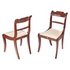 Pair of Regency Antique Mahogany Side Chairs