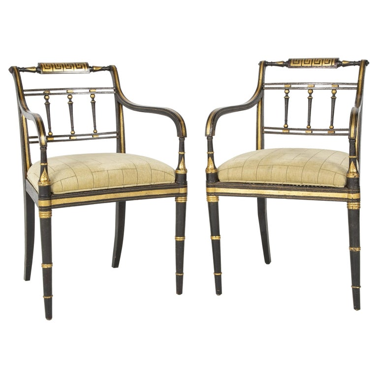 Pair of Regency Armchairs For Sale