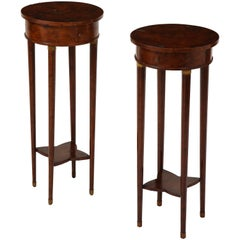 Pair of Regency Burl Walnut Occasional Tables