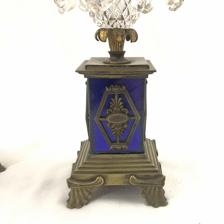 Pair of Regency Candlesticks In Good Condition For Sale In New York, NY