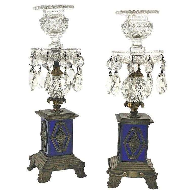 Pair of Regency Candlesticks For Sale
