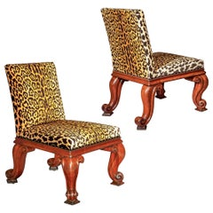 Pair of Regency Chairs of Baroque Style by Gillows of Lancaster, circa 1825