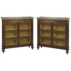 Pair of Regency Dwarf Bookcases in the Manner of George Bullock, circa 1820