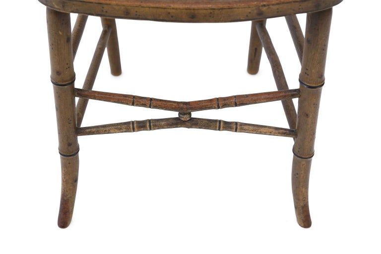Early 19th Century Pair of Regency Faux Bamboo Chairs For Sale