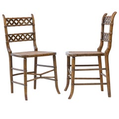 Pair of Regency Faux Bamboo Chairs