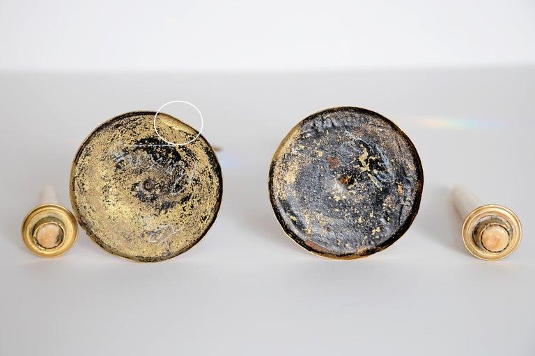 Pair of Regency Gilt Bronze Candlesticks in the Egyptian Taste For Sale 11