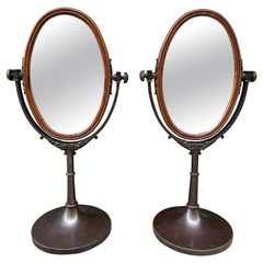 Pair of Regency in Style Tabletop English Dressing Mirrors