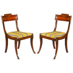 Pair of Regency Klismos Chairs, English, Early 19th Century
