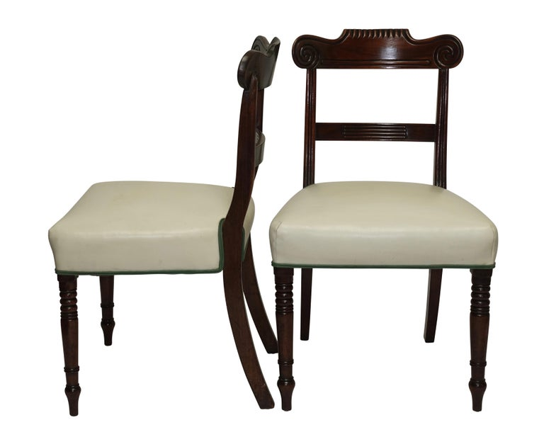 Pair of Regency Mahogany Dining Side Chairs, English, circa 1830 For Sale 2