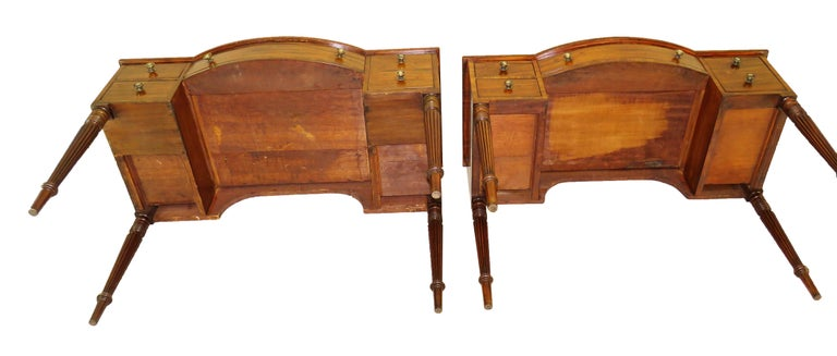Pair of Regency Mahogany Dressing Tables For Sale 5