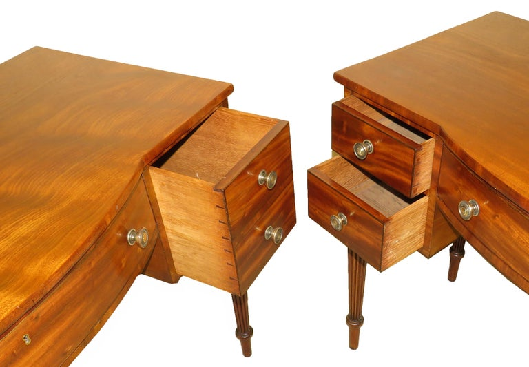 Pair of Regency Mahogany Dressing Tables For Sale 6