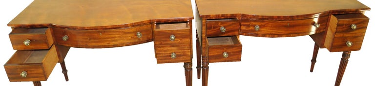 Pair of Regency Mahogany Dressing Tables For Sale 2