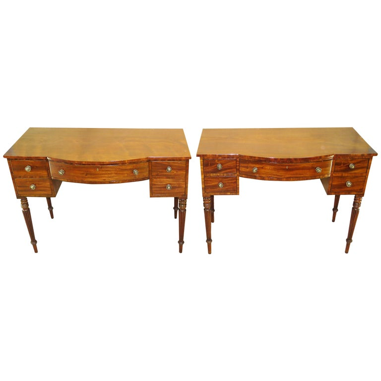 Pair of Regency Mahogany Dressing Tables For Sale