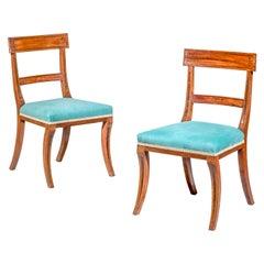 Pair of Regency Mahogany Klismos Chairs, Attributed to Gillows