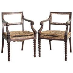 Pair of Regency Mahogany Side Chairs