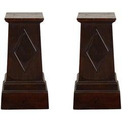 Pair of Regency Painted Pedestals