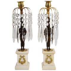Pair of Regency Period Lusta Candlesticks