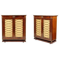 Pair of Regency Period Rosewood Side Cabinets