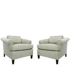 Pair of Regency Rolled  Armchairs
