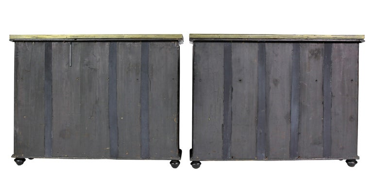 Pair of Regency Rosewood and Satinwood Cabinets / Credenzas For Sale 6