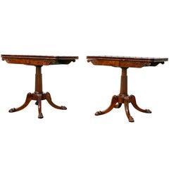 Pair of Regency Rosewood Games Tables