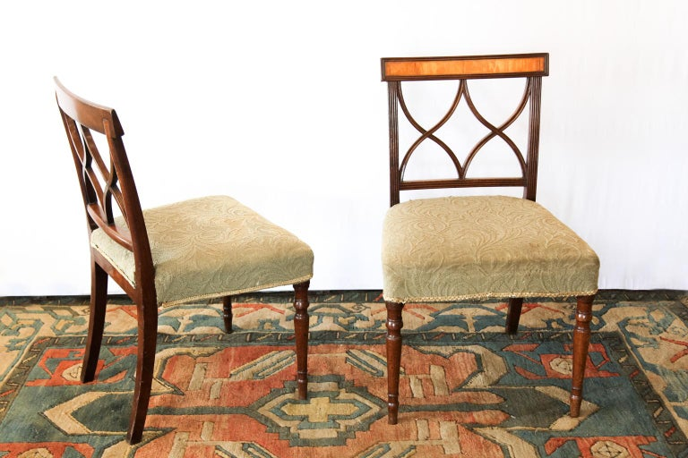 Pair of Regency Side Chairs In Good Condition For Sale In Wilson, NC