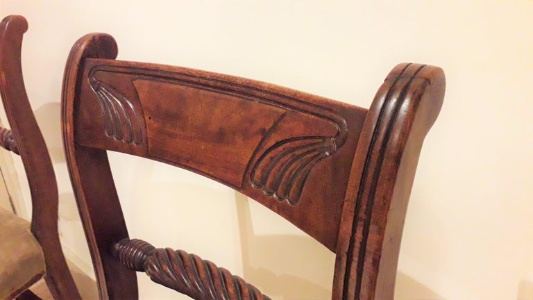 Pair of Regency Mahogany Side Chairs For Sale 2
