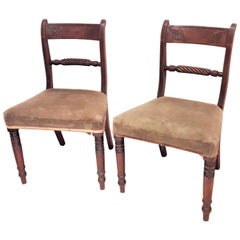 Pair of Regency Mahogany Side Chairs
