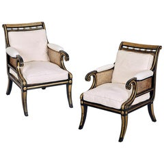 Pair of Regency Style Bergères