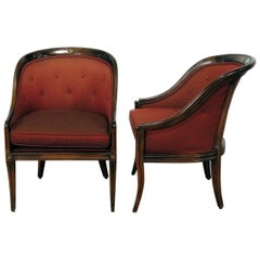 Pair of Regency Style Club Chairs