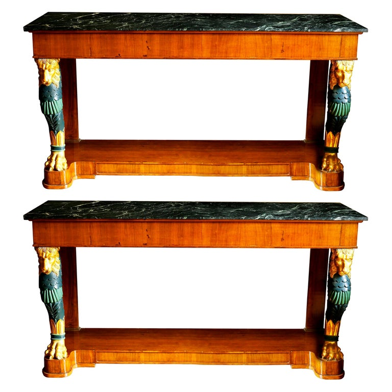 Maison Jansen console tables, 1940