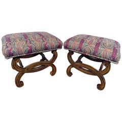 Pair of Regency Style Footstools