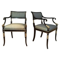 Pair of Regency Style Karges Armchairs