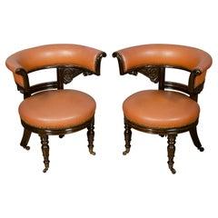 Pair of Regency Style Mahogany Chairs
