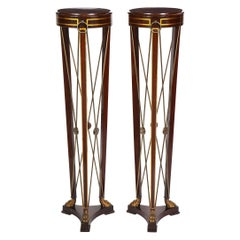 Pair of Regency Style Mahogany Pedestals by Grosfeld House